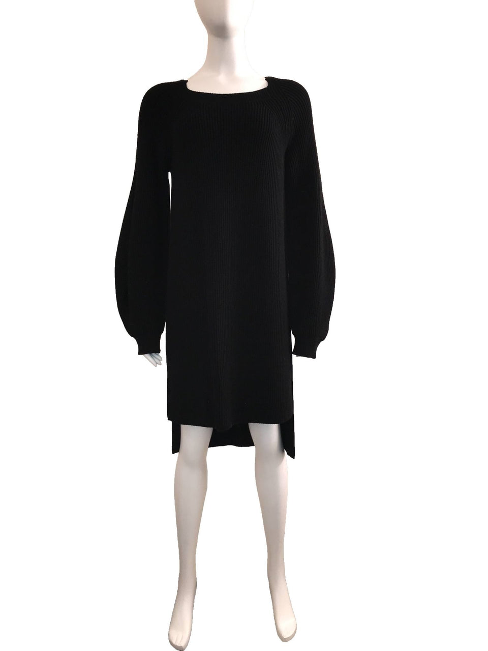 Bell Sleeve Ribbed Knit Tunic