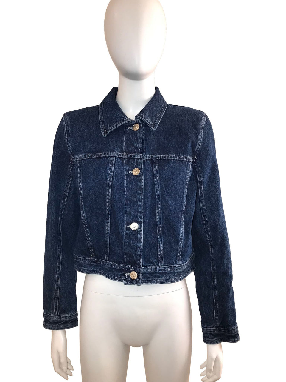 Jean Jacket with Shoulder Pads