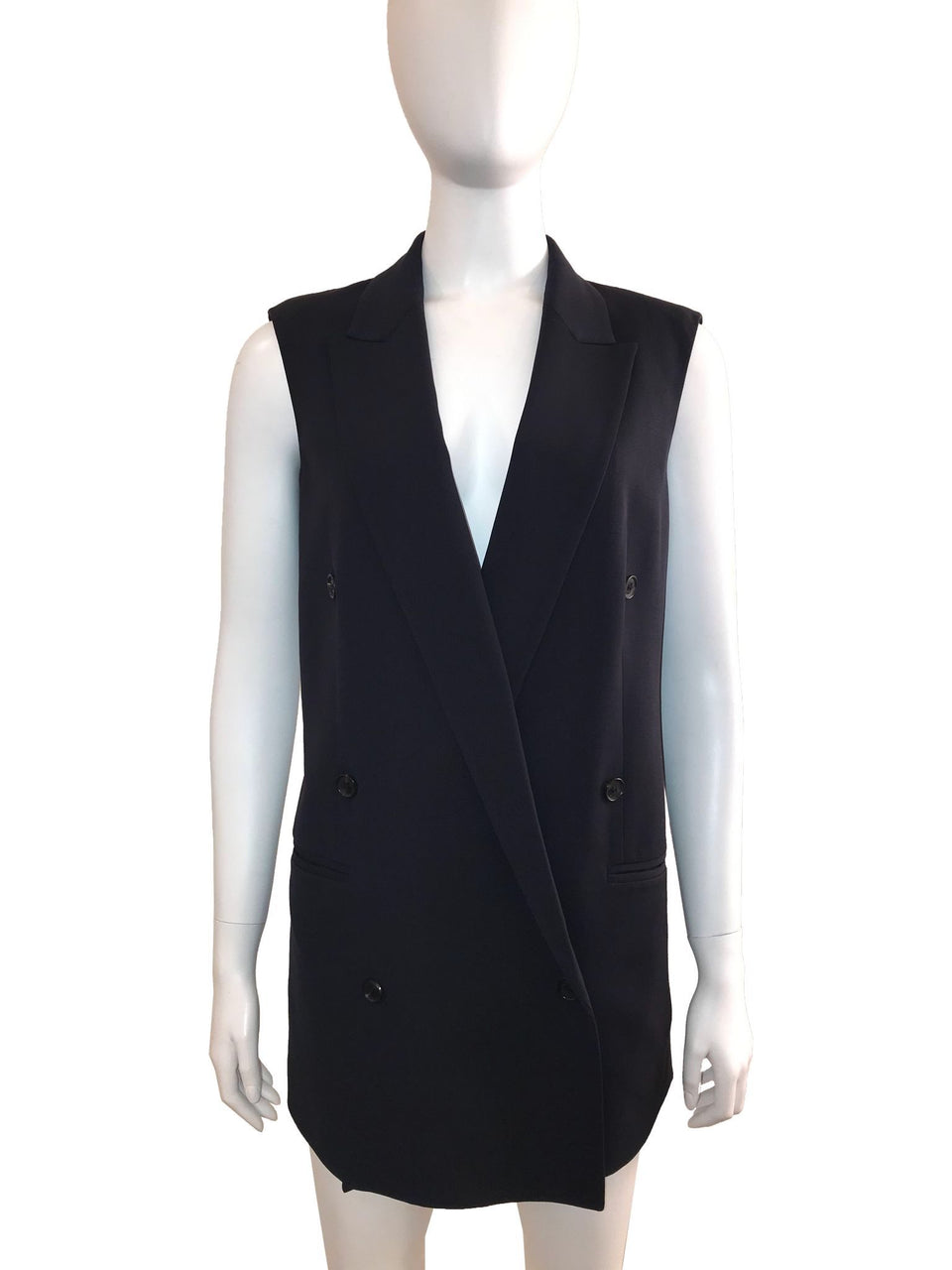 Double Breasted Boxy Vest