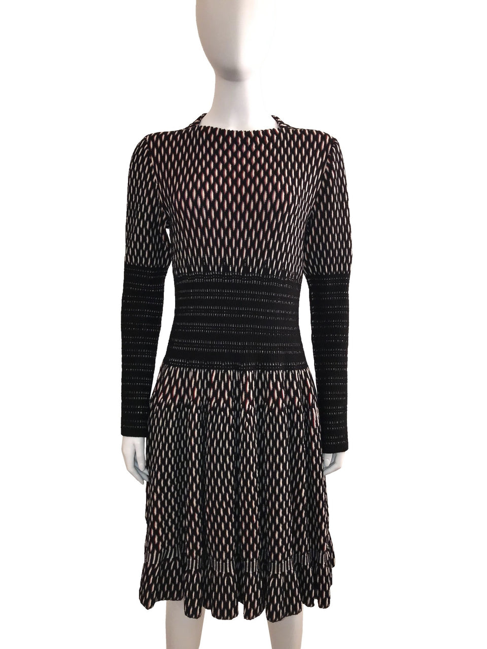 Knit Dress w/ Arm and Waist Band Detail