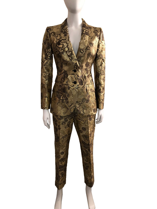 Gold Brocade Pant Suit