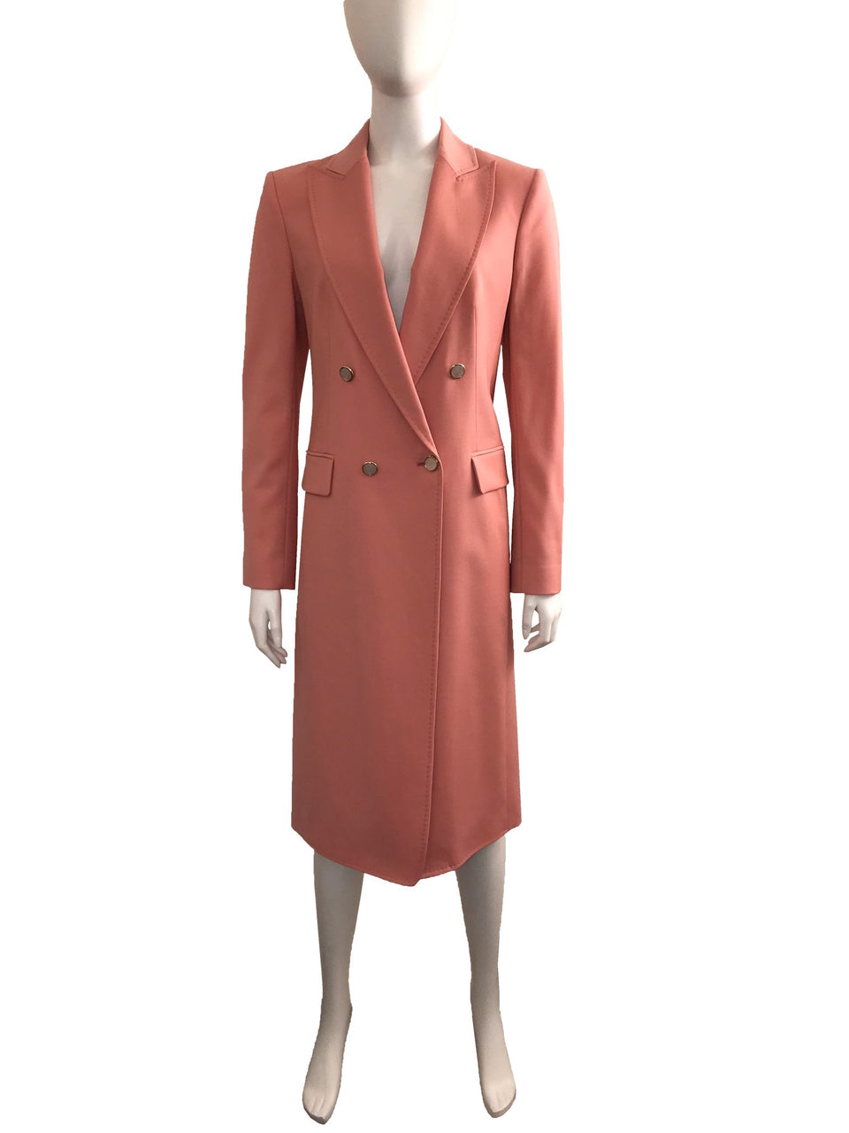 Temperley Pink Double Breasted 3/4 Jacket Dress