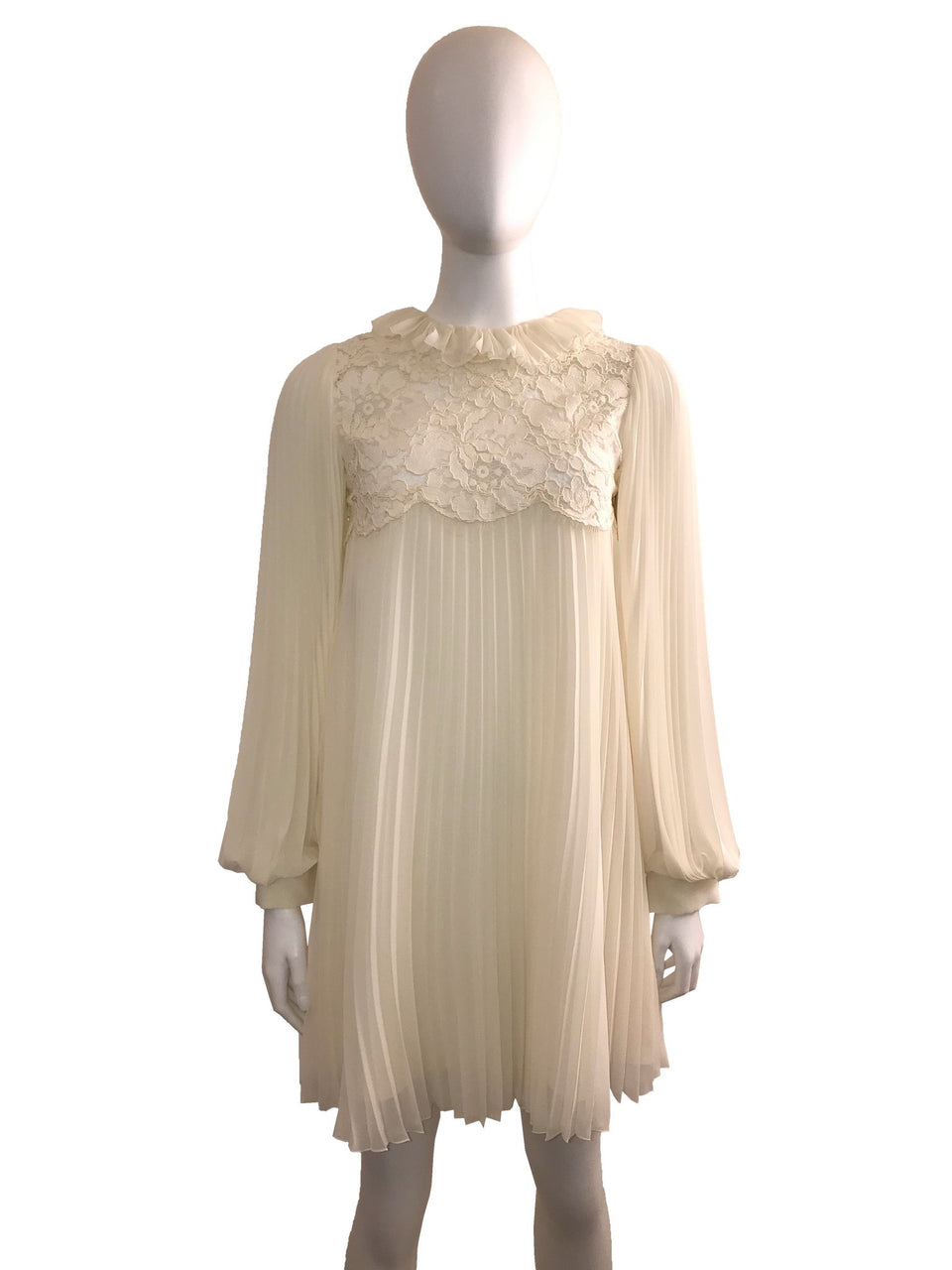 Pleated Dress w/ Lace