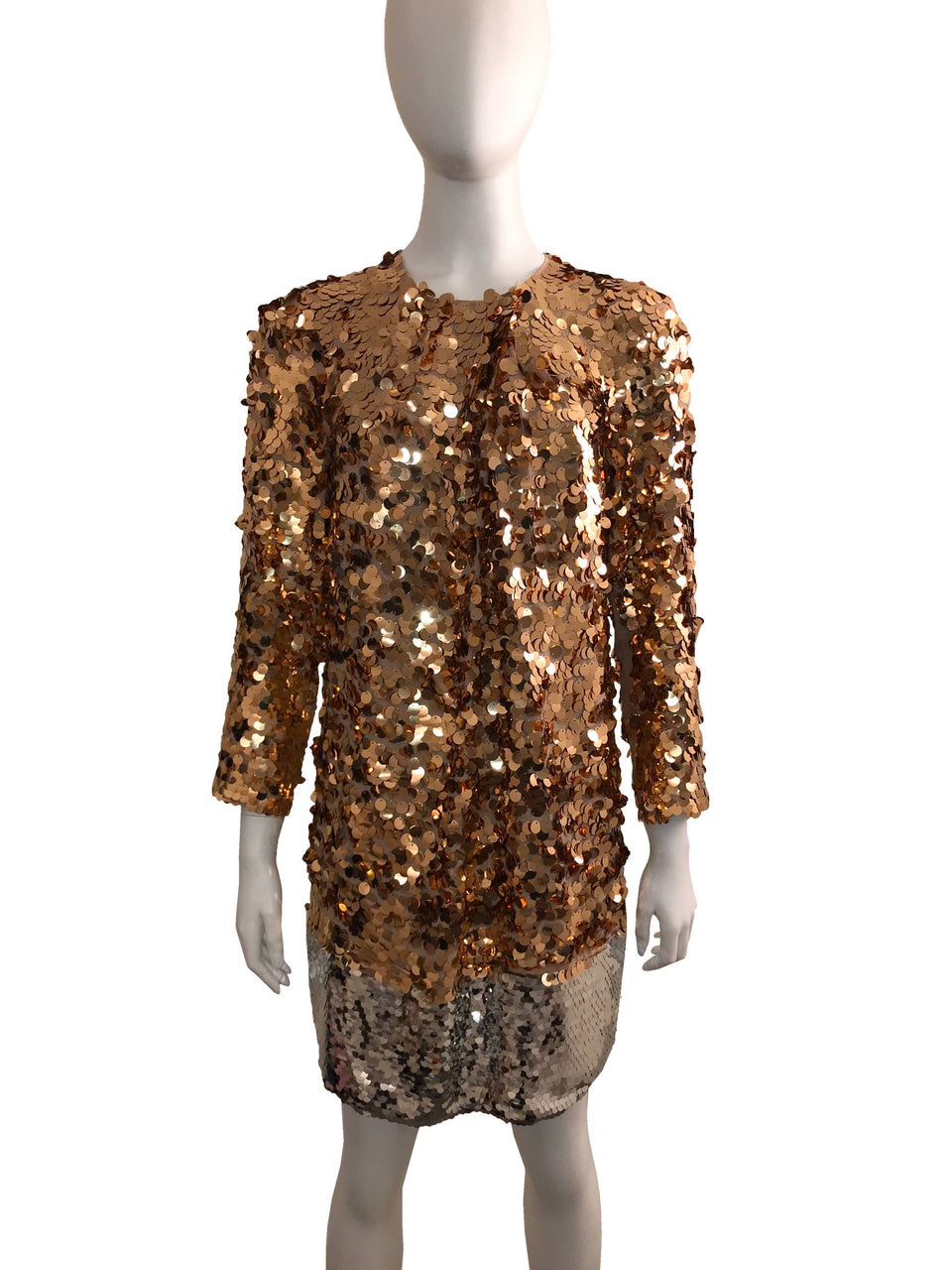 Sequin 2-Tone Dress