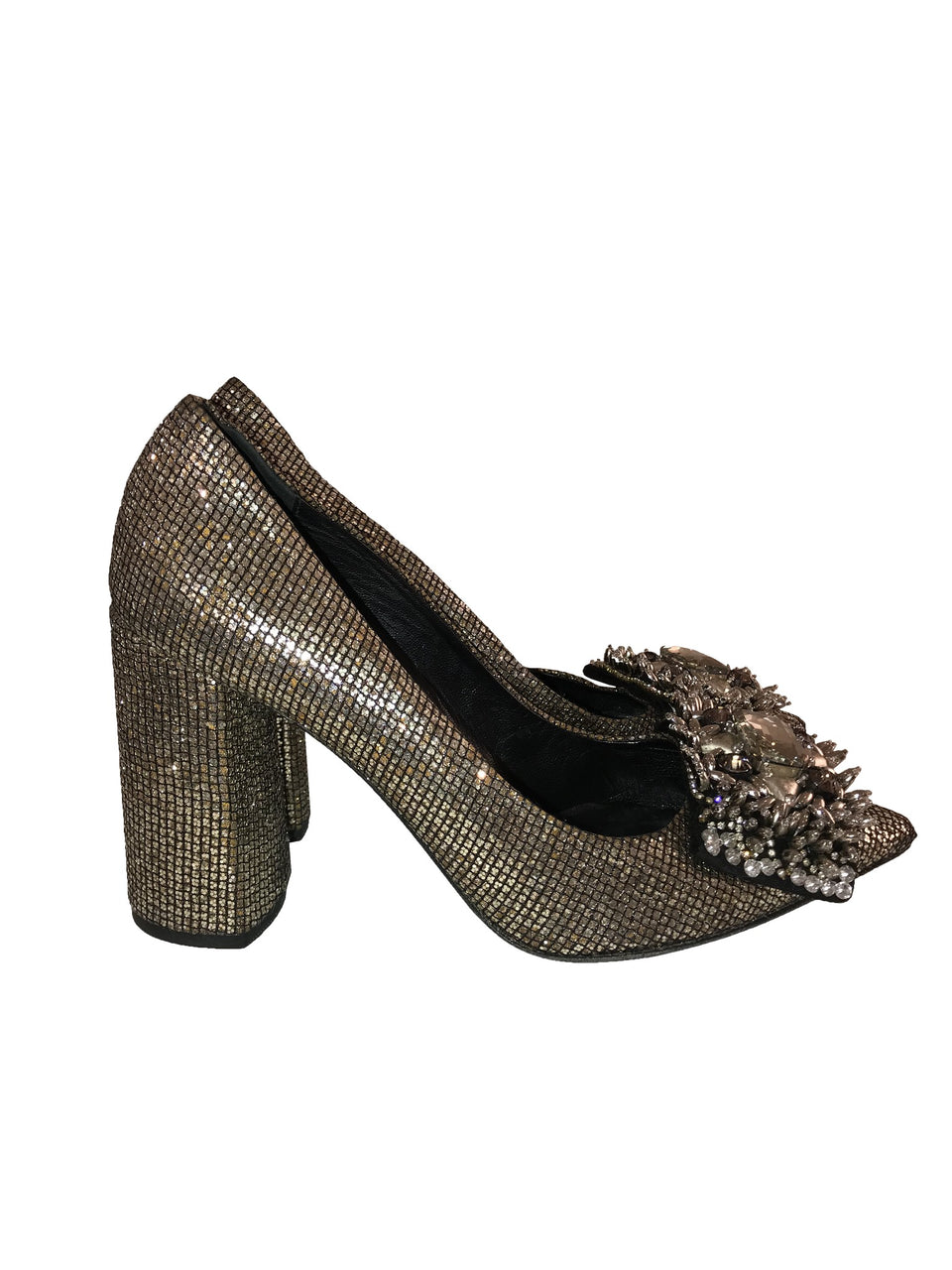 Strategia Gold Embellished Heels