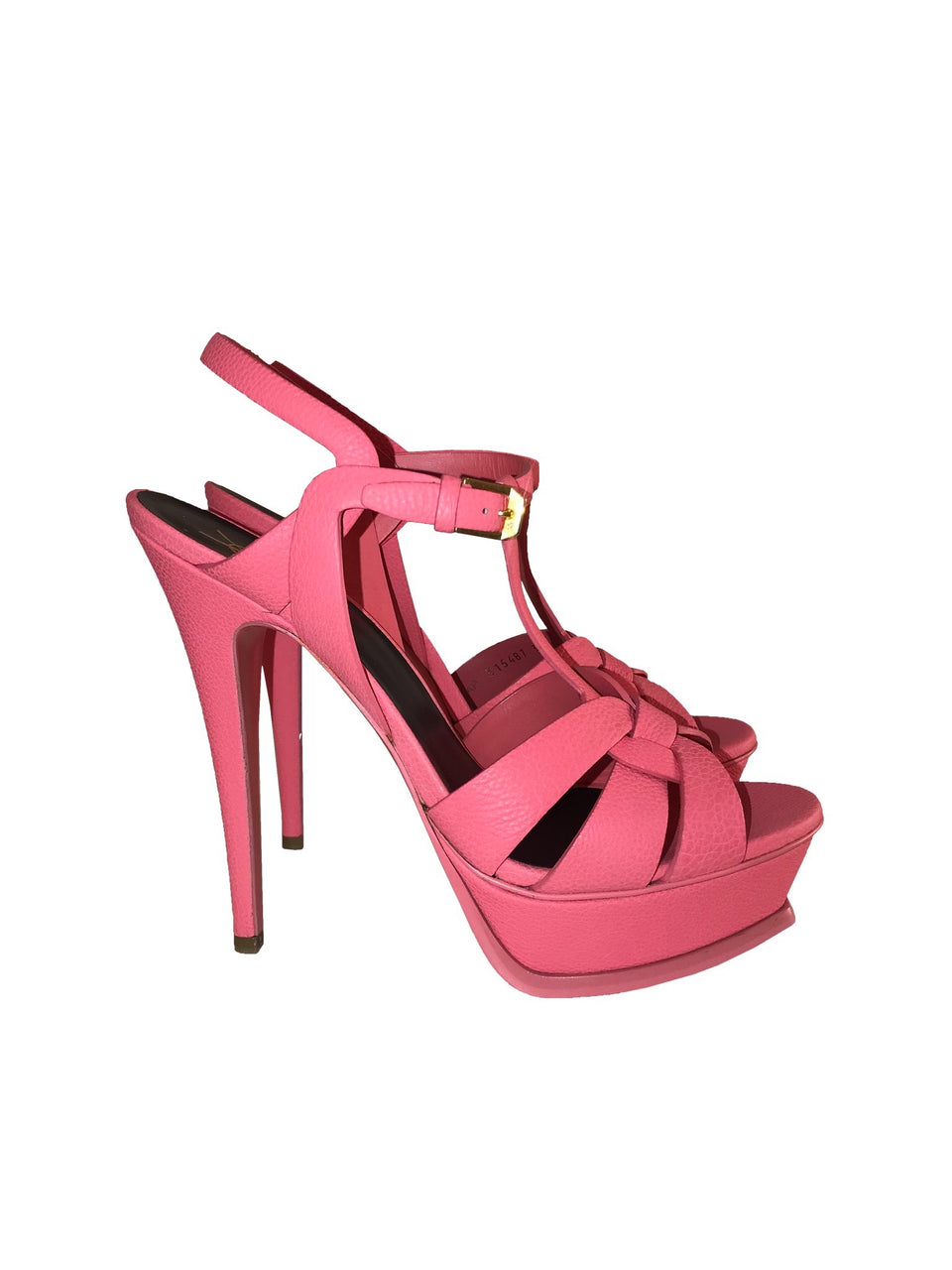 Pink Leather Tribute Sandals