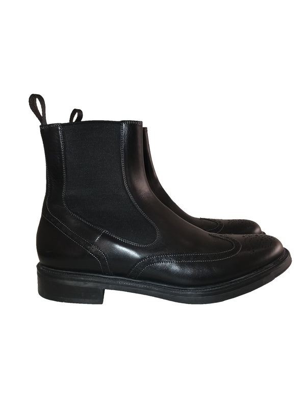 Leather Chelsea Flat Boots