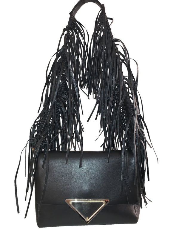 Sara Battaglia Black Teresa Shoulder Bag