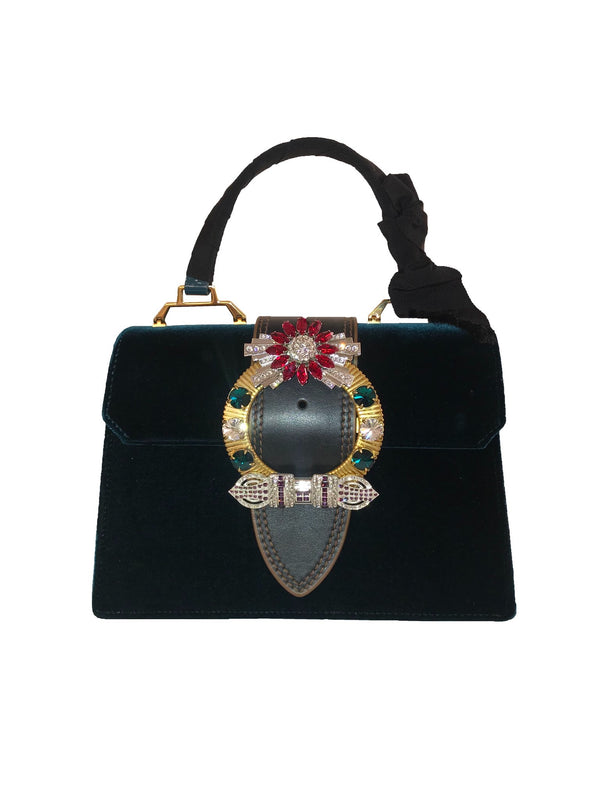 Crystal Embellished 'Lady' Handbag