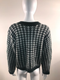 White Closet Green & White Houndstooth Sweater