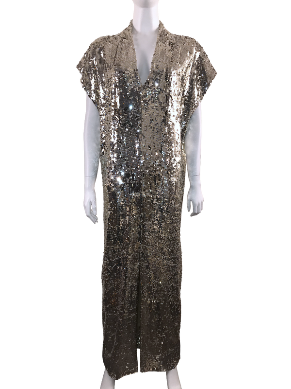 Gold Maxi Sequin Dress w/ Tags
