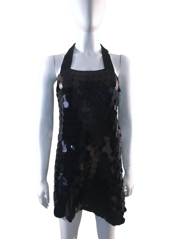 Sequin Paillette Halter Dress w/ Tags