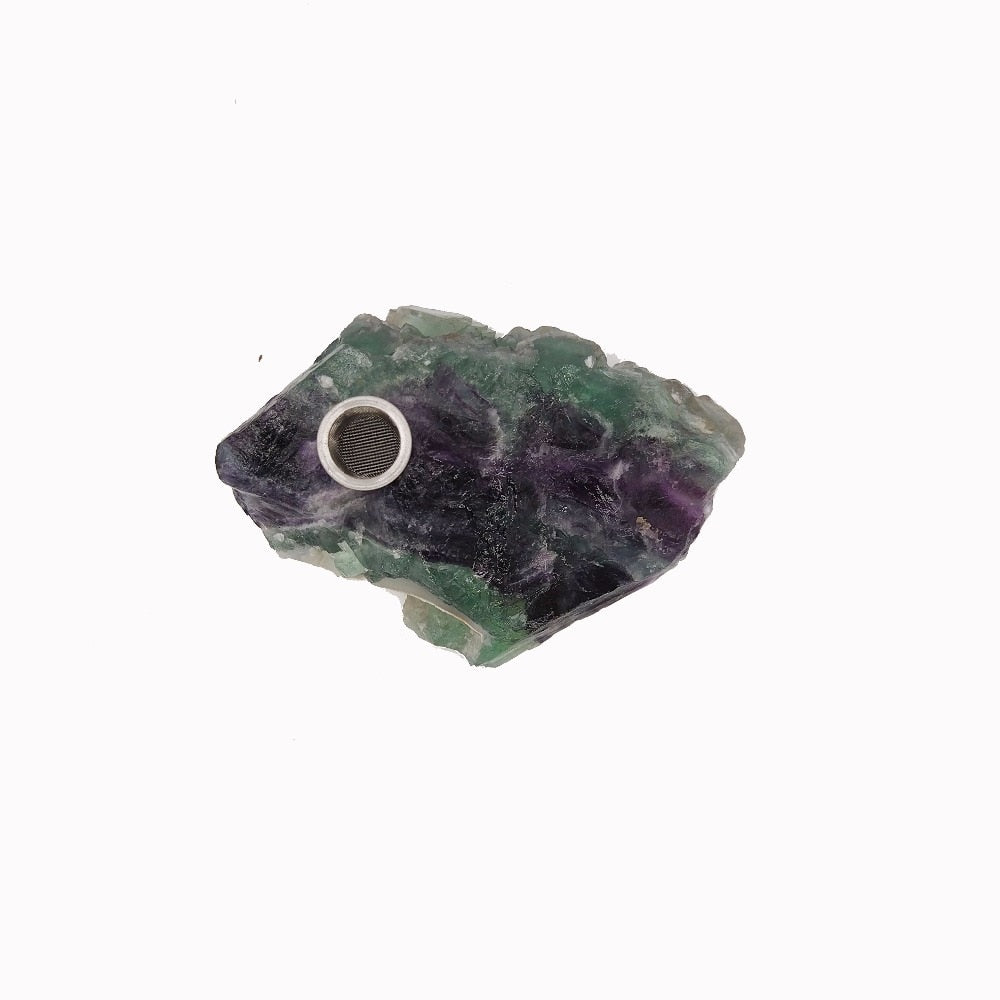 Natural Fluorite Cluster Pipe - SmokeStash