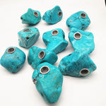 Natural Irregular Blue Turquoise Pipe - SmokeStash