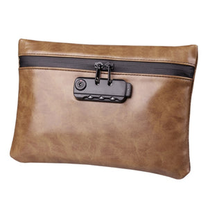 Brown Waterproof Anti-theft Smell Proof Pouch - SmokeStash