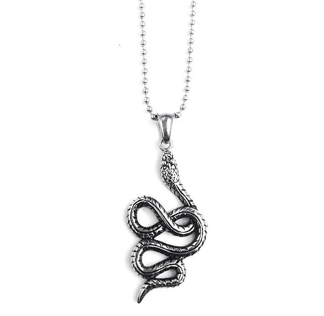 ANTIQUE SERPENT SNAKE NECKLACE
