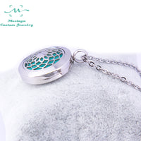1 piece 25mm Aromatherapy /Essential Oils Stainless Steel Diffuser magnet Locket pendant Necklace