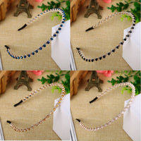1PC Women Girl'S Crystal Rhinestone Headband Head Piece Hairband Hair Band