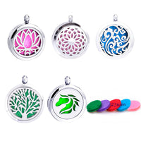 1pc 100% 316L Stainless Steel Locket Dream Catcher Perfume Necklace Pendants