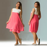 Women Dress Summer Loose Chiffon Dress Plus Size Women Clothing