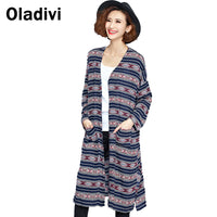Women New Printing Shirt Blouse Long Sleeve Top Blusas Femininas Kimono Cardigan