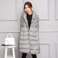 Winter Jacket Women Casual Coat Plus Size Clothing Long Cotton Padded Slim Warm Jacket Thicker Outwear Parka
