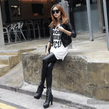 Winter leggings Plus velvet thick imitation leather pants Fashion Leggings Large size stretch