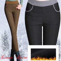 Brand trousers women winter High-quality pantalon femme warm pants