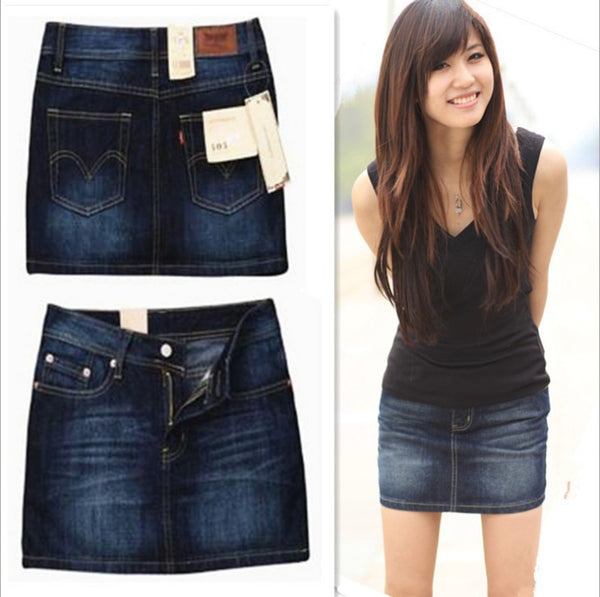Special classic package hip female Middle Medium waist section cowgirl denim Jeans skirt clothing