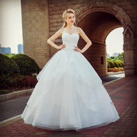 Delicate Crystal Beaded Bride Princess Wedding Dress Fashion Backless