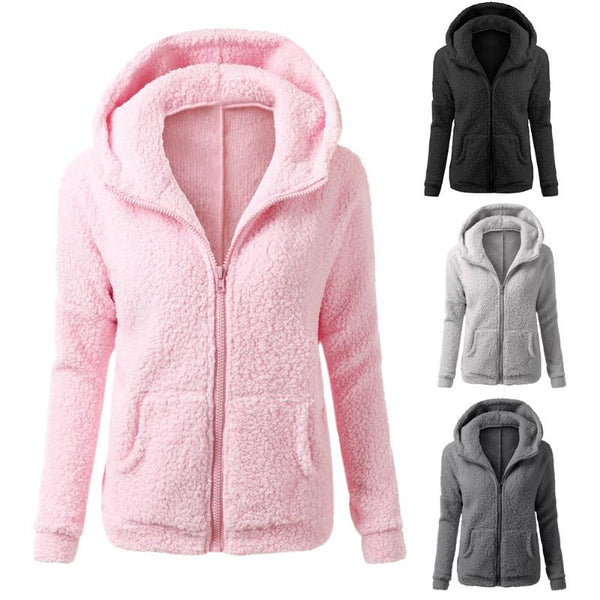 Fleece Jacket Womens Thicken Warm Coat Female Windproof Polar Fleece Basic Jacket Plus Size M-5XL