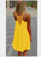 2018 Women Summer Dress Loose sleeveless Chiffon Voile Fluorescence grid mini dresses