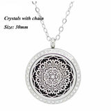 30mm magnetic essntial oil necklace for women 316L stainless steel aromatherapy pendant diffuser necklace (5pads)