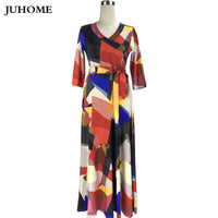 Boho clothing hippie bohemian maxi dress for fat plus size fashionable tunic printed dress