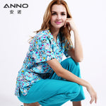 Plus Size Blue Hospital scrubs Set Nursing Uniforms Medical Clothing Beauty Salon Dental Clinic Design Nursing Scrubs Women