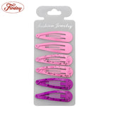 72Pcs Print Hair Clips For Girls Kids Women Snap Clips Metal Hairclips Hairpins