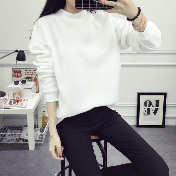 9 Colors 2018 Hitz Winter Sweatshirt Women Sweatshirts Plus Size