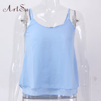 ArtSu Chiffon Blouse Women Clothing Tops Blouses Blusas Femininas Shirts Ladies Spring Summer Top