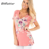 BHflutter S-5XL Plus Size Women Clothing 2018 T shirt Short Sleeve Summer Tshirts