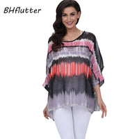 BHflutter Women Blouses Summer Tops Tees New Style 2018 Batwing Casual Chiffon Blouse