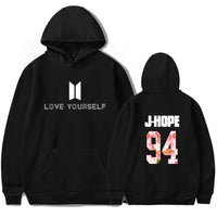 BTS Love Yourself Hoodies Sweatshirt Women/men Winter Bangtanboys Hip Hop Fashion Harajuku New Kpop Clothes plus size xxxxl 1 2