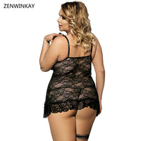 Black Night Wear Women Sexy Babydolls Lingerie