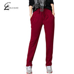 M-6XL 4 Colors Women's Winter Harem Pants Fashion Warm Thicken Pant