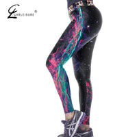 Women's Galaxy Leggings Fashion Stretch Slim Printed Leggings Elastic Workout Leggings