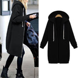 Long Coat Autumn Casual Plus Size Winter Hooded Jacket Female Sweater