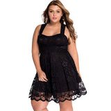 DEXIA Off Shoulder Lace Dress Black Sexy Women Summer Sleeveless Backless Party Evening Plus Size Clothing Fashion Vestidos