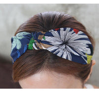 DPSaiLYY Hot Sale Headbands for Women Nautical Summer Top Knot Headband Adult 40's Vintage Style Hairband Women Hair Accessories