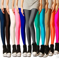 Dreamshining Brand Sexy Solid Candy Neon Plus Size Women's Leggings Stretched Jeggings Fitness Clothing Ballet Dancing Pant