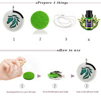 Horse Surgical Stainless Steel Essential Oil Diffuser Necklace Pendant Aromatherapy Locket With 6pc Refill Pads