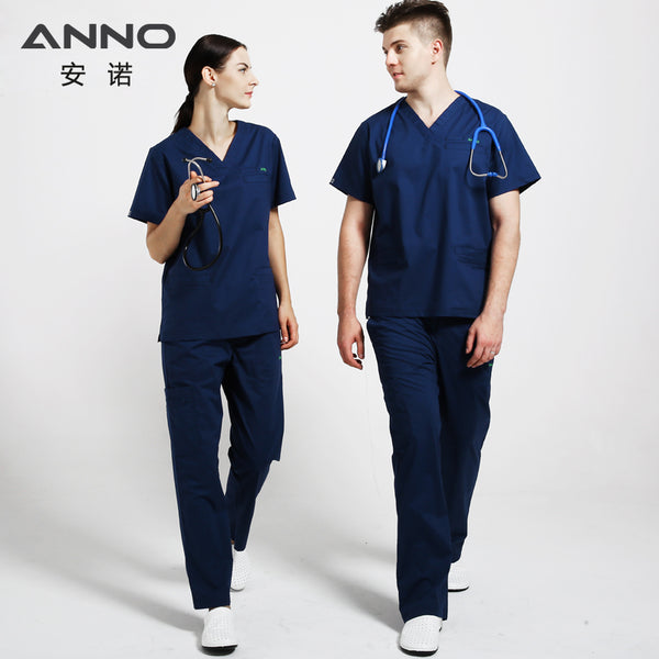 Elasticity Cotton Spandex Body Nurse Uniform For Women Medical Suit Scrubs